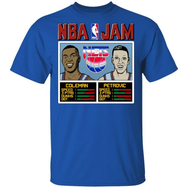 NBA Jam Nets Coleman And Petrovic Shirt, Hoodie, Tank Apparel