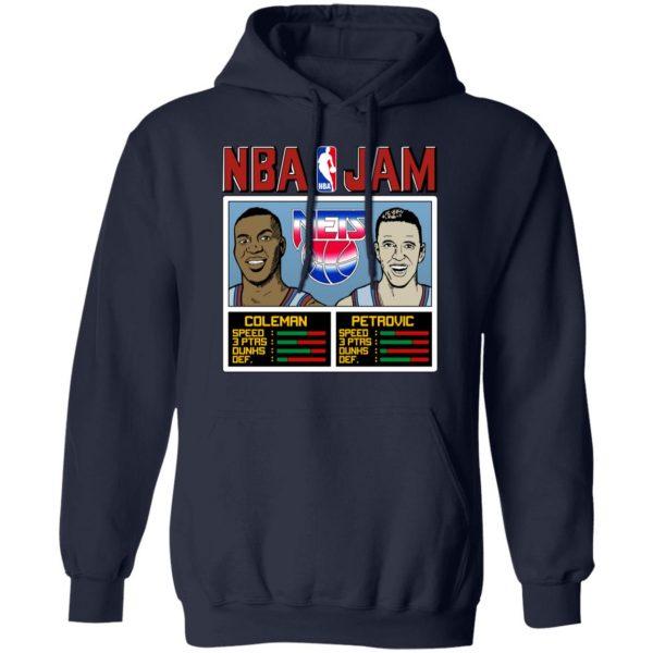 NBA Jam Nets Coleman And Petrovic Shirt, Hoodie, Tank