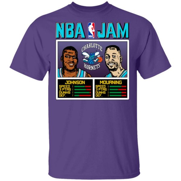 NBA Jam Hornets Johnson And Mourning Shirt, Hoodie, Tank Apparel