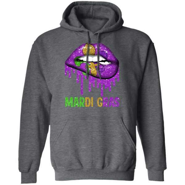 Mardi Gras Lip Biting Shirt, Hoodie, Tank Apparel