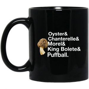 The Mushroom Forager Oyster & Chanterelle & Morel & King Bolete & Puffball Mug Coffee Mugs