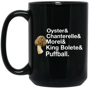 The Mushroom Forager Oyster & Chanterelle & Morel & King Bolete & Puffball Mug Coffee Mugs 2