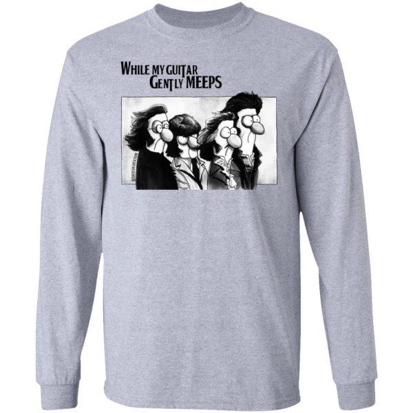 While My Guitar Gently Meeps Guitar Lovers Shirt, Hoodie, Tank Apparel