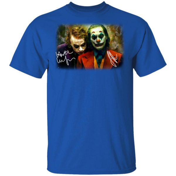 Joaquin Phoenix Joker Vs Heath Ledger Joker Shirt, Hoodie, Tank Apparel 3