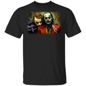 Joaquin Phoenix Joker Vs Heath Ledger Joker Shirt, Hoodie, Tank Apparel 2