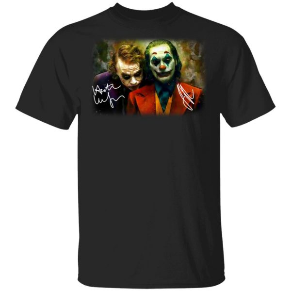 Joaquin Phoenix Joker Vs Heath Ledger Joker Shirt, Hoodie, Tank Apparel 4