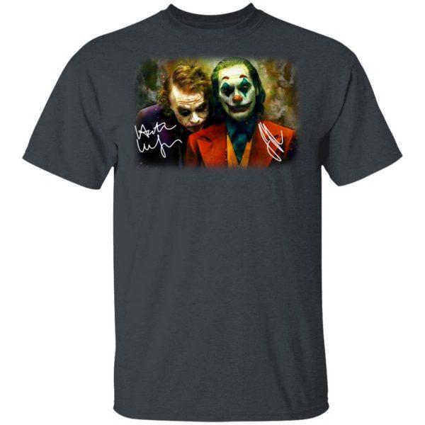 Joaquin Phoenix Joker Vs Heath Ledger Joker Shirt, Hoodie, Tank Apparel 5