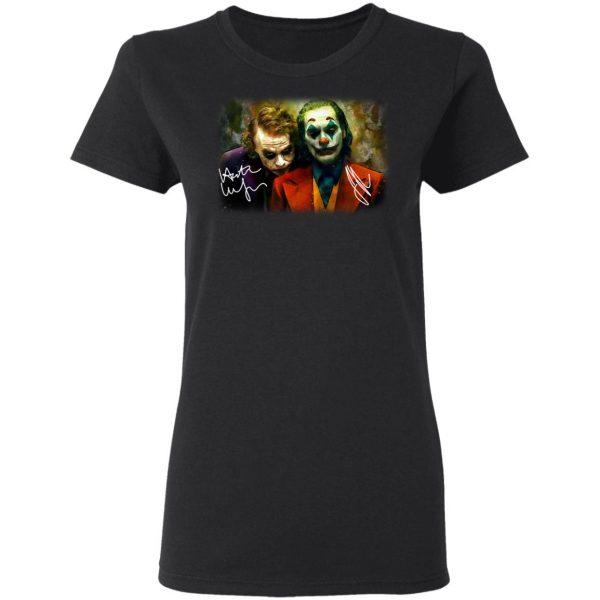 Joaquin Phoenix Joker Vs Heath Ledger Joker Shirt, Hoodie, Tank Apparel 7