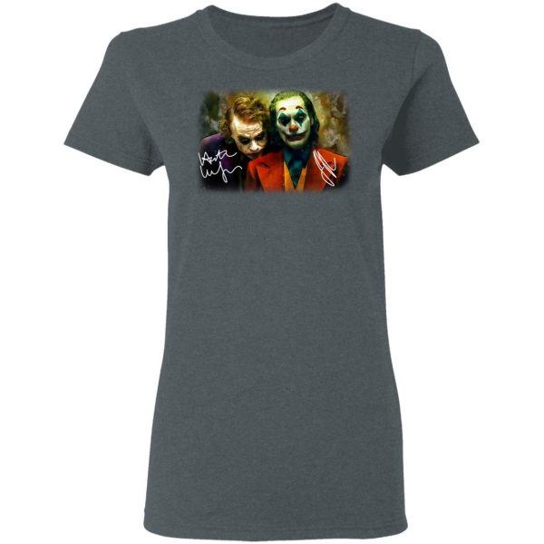 Joaquin Phoenix Joker Vs Heath Ledger Joker Shirt, Hoodie, Tank Apparel 8