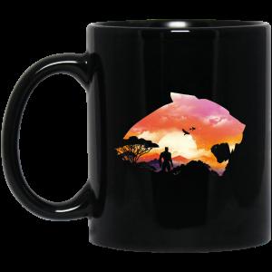 Wakanda Sunset Black Mug Coffee Mugs