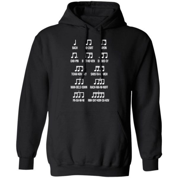 Composer Rhythm Music Gift Bach Mozart Beethoven Chopin Camiseta Shirt, Hoodie, Tank Apparel