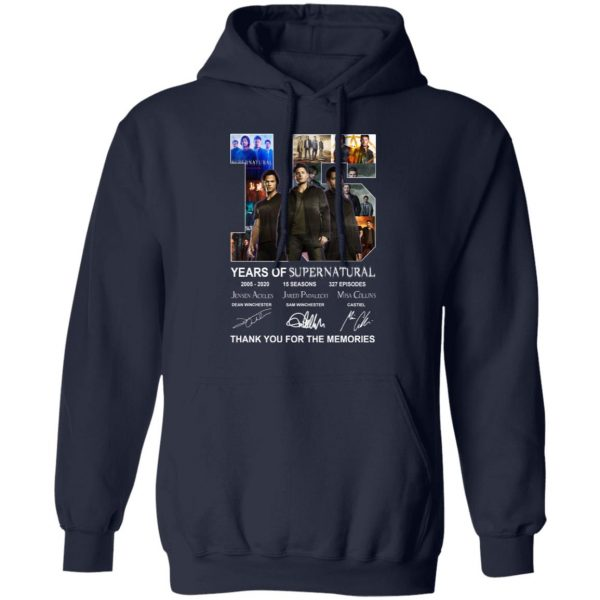 15 Years Of Supernatural Thank You For My Memories Shirt, Hoodie, Tank Apparel