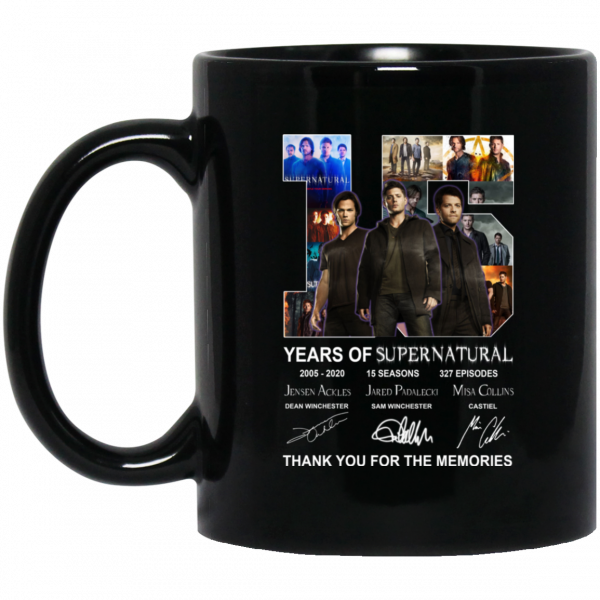 15 Years Of Supernatural Thank You For My Memories Mug Coffee Mugs 3