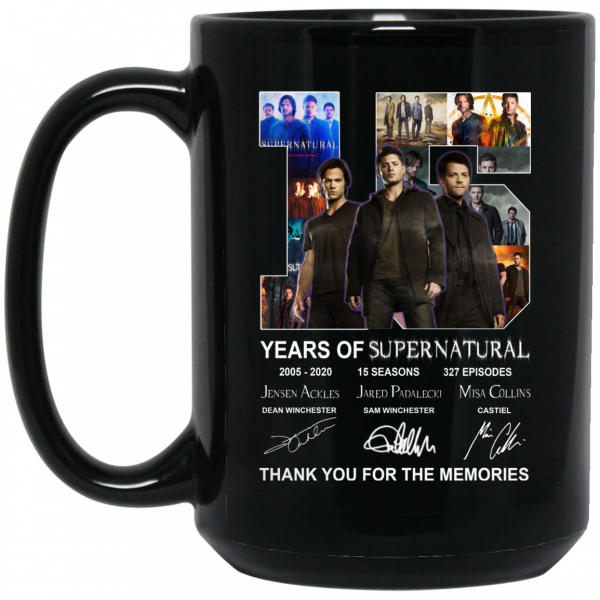 15 Years Of Supernatural Thank You For My Memories Mug Coffee Mugs 4