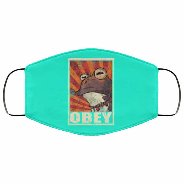 Obey The Hypnotoad Face Mask Face Mask