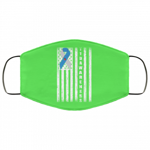 Type 1 Diabetes Awareness Support T1D Flag Ribbon Face Mask Face Mask