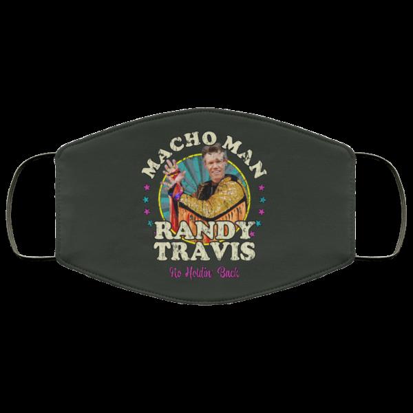 Macho Man Randy Travis No Holding Back Face Mask Face Mask 4