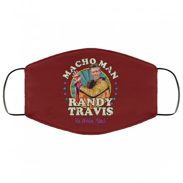 Macho Man Randy Travis No Holding Back Face Mask Face Mask 8