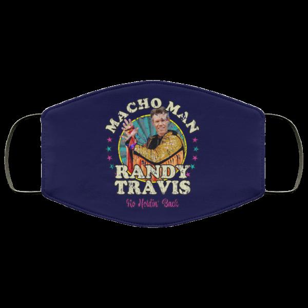 Macho Man Randy Travis No Holding Back Face Mask Face Mask 9
