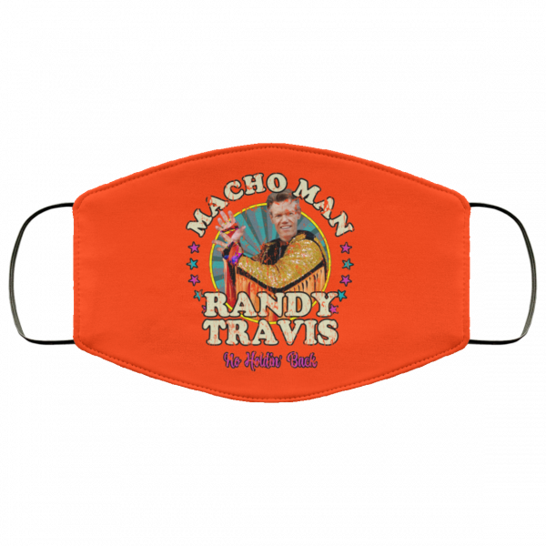 Macho Man Randy Travis No Holding Back Face Mask Face Mask 11