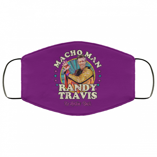 Macho Man Randy Travis No Holding Back Face Mask Face Mask 13