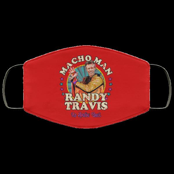 Macho Man Randy Travis No Holding Back Face Mask Face Mask 14