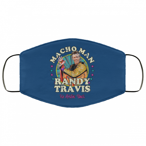 Macho Man Randy Travis No Holding Back Face Mask Face Mask 15