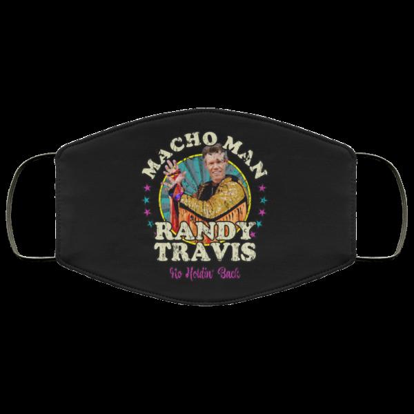 Macho Man Randy Travis No Holding Back Face Mask Face Mask 24