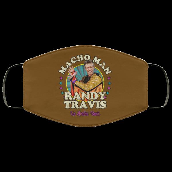 Macho Man Randy Travis No Holding Back Face Mask Face Mask 25
