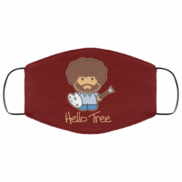 Hello Tree Bob Ross Face Mask Face Mask 3