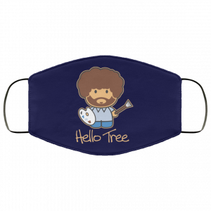Hello Tree Bob Ross Face Mask Face Mask 2