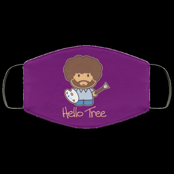 Hello Tree Bob Ross Face Mask Face Mask 8