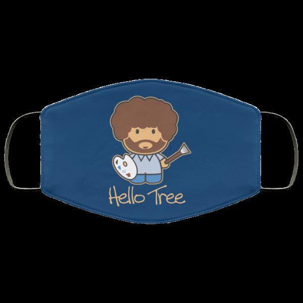 Hello Tree Bob Ross Face Mask Face Mask 10