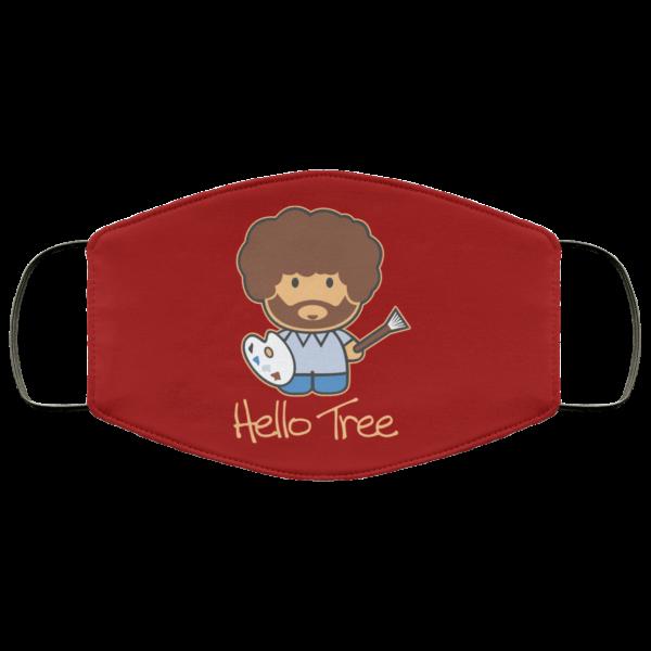 Hello Tree Bob Ross Face Mask Face Mask 17