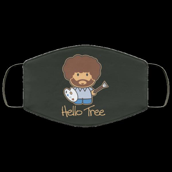 Hello Tree Bob Ross Face Mask Face Mask 20