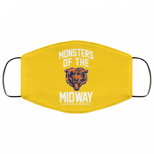 Monsters Of The Midway Chicago Bears Face Mask Face Mask