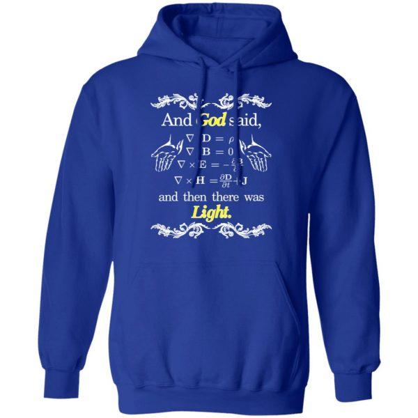 God Said Maxwell Equations Christian Physics Nerd Shirt, Hoodie, Tank Apparel 14