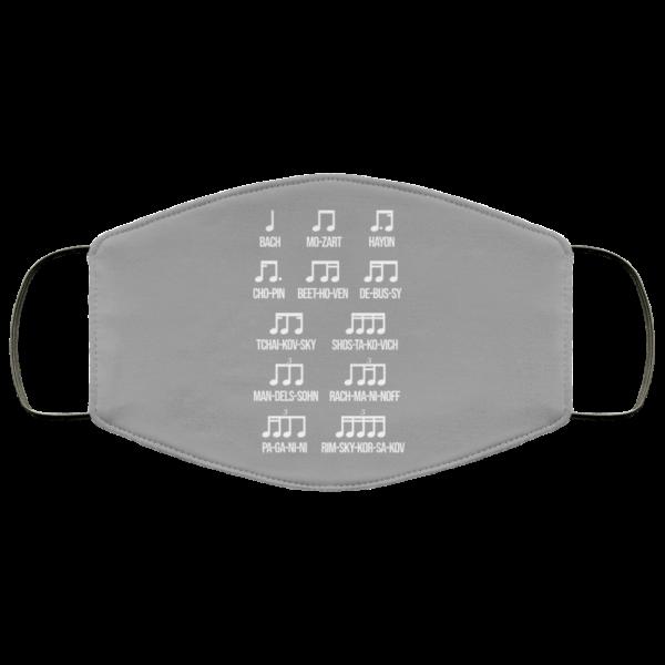 Composer Rhythm Music Gift Bach Mozart Beethoven Chopin Camiseta Face Mask Face Mask 12