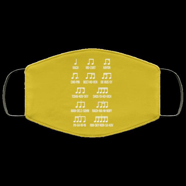 Composer Rhythm Music Gift Bach Mozart Beethoven Chopin Camiseta Face Mask Face Mask 16