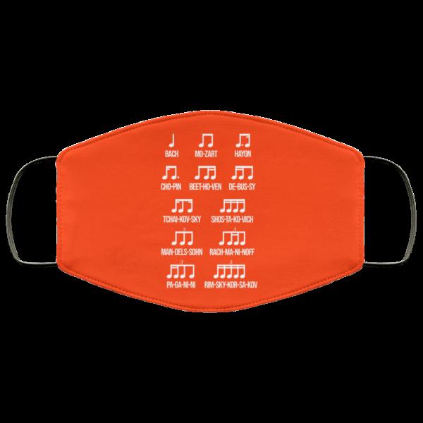 Composer Rhythm Music Gift Bach Mozart Beethoven Chopin Camiseta Face Mask Face Mask 17