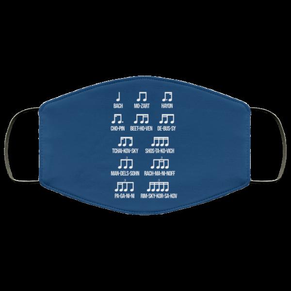 Composer Rhythm Music Gift Bach Mozart Beethoven Chopin Camiseta Face Mask Face Mask 21