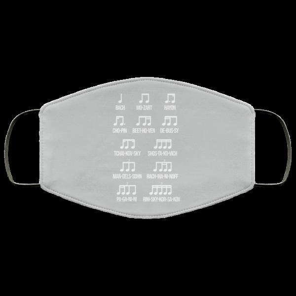 Composer Rhythm Music Gift Bach Mozart Beethoven Chopin Camiseta Face Mask Face Mask 22