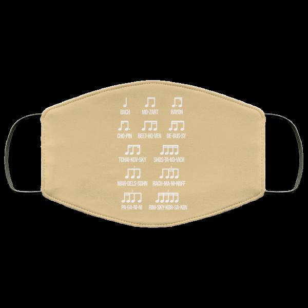 Composer Rhythm Music Gift Bach Mozart Beethoven Chopin Camiseta Face Mask Face Mask 23