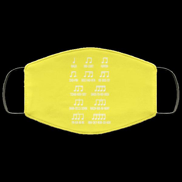 Composer Rhythm Music Gift Bach Mozart Beethoven Chopin Camiseta Face Mask Face Mask 27