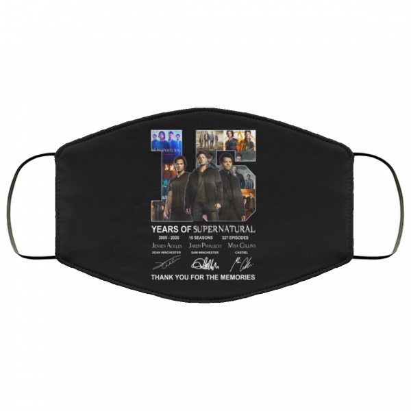 15 Years Of Supernatural Thank You For My Memories Face Mask Face Mask 5