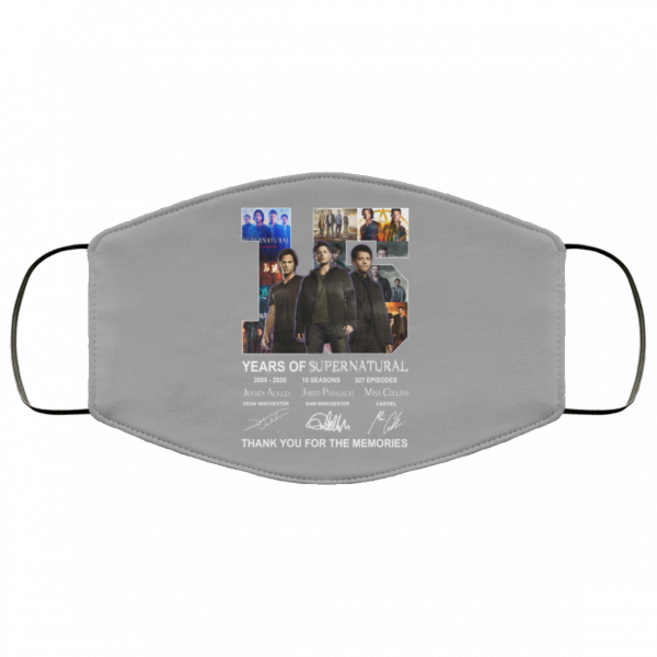 15 Years Of Supernatural Thank You For My Memories Face Mask Face Mask 12