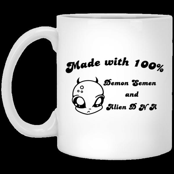 Alien Made With 100% Demon Semen And Alien DNA Mug Coffee Mugs 3