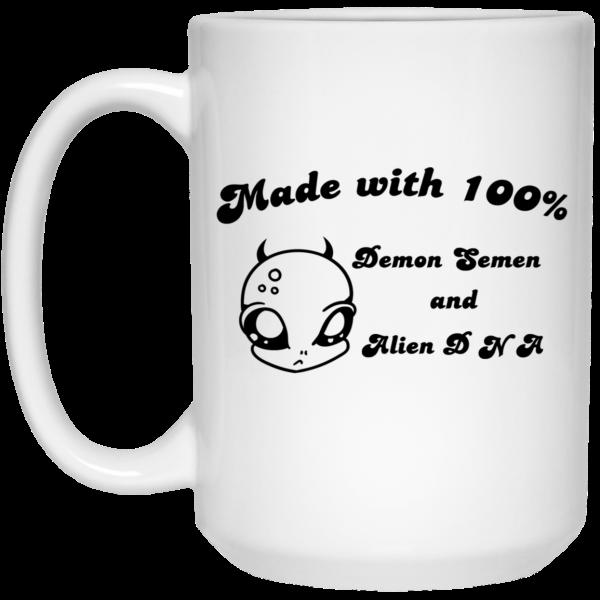 Alien Made With 100% Demon Semen And Alien DNA Mug Coffee Mugs 4