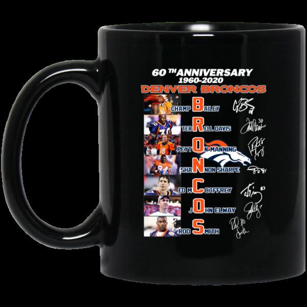 60th Anniversary Denver Broncos 1960 2020 Mug Coffee Mugs 3