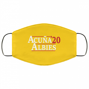 Acuna Albies 2020 Play For The A Face Mask Face Mask